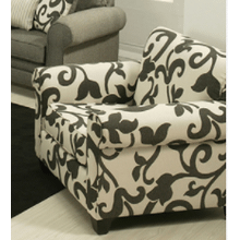 View Product - White and Grey Accent Chair