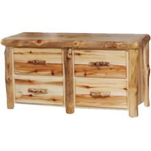4 Drawer Dresser Flat Front Wild Panel Natural Log