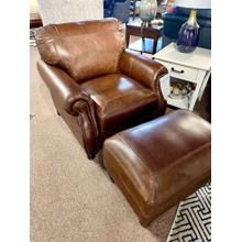View Product - Leather Chair & Ottoman