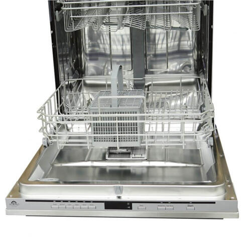 "24"" FORNO Pro-Style Built-In DishwasherStainless Steel Front Panel / Handle"