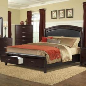 Delaney  Queen Bed with Storage Footboard