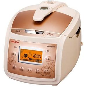 CUCKOO Pressure RICE COOKER l CRP-J0610F Ivory/Pink (6 Cup)