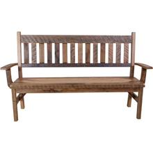 See Details - Reclaimed Barnwood Deacon's Bench