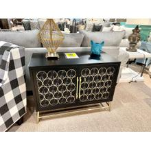 View Product - Two Door Console (Black & Gold)