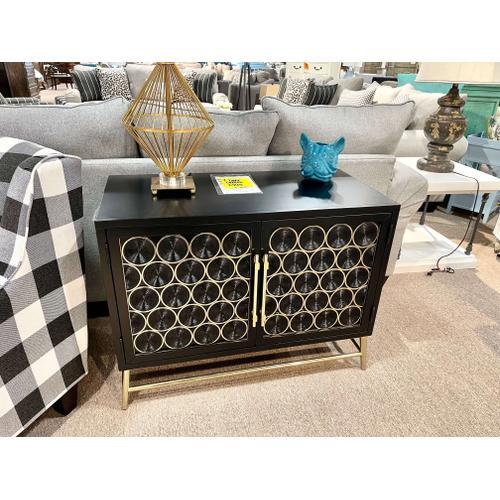 Pulaski Furniture - Two Door Console (Black & Gold)