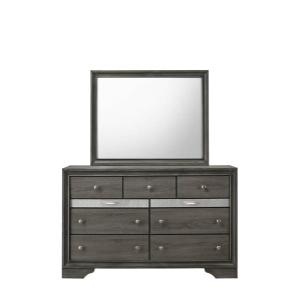 CrownMark 4 Pc Queen Bedroom Set, Regata Grey B4650