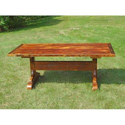 Cozy Creations Collection - Barn Board trestle Dining Table