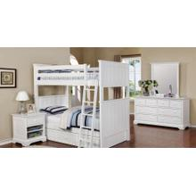 Belfort Twin over Twin Bunk Bed with Waterford Collection - White