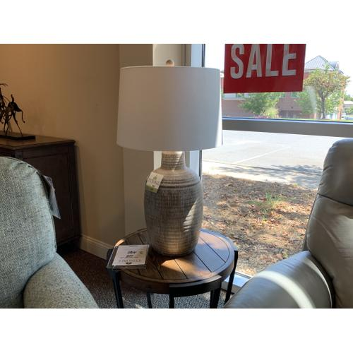 Decorative Earth Tone Table Lamp with Drum Shade