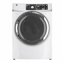 MOD # GFD48ESSKWW-FL S/N 842G FLR MOD 28 Inch Electric Dryer with 8.3 cu. ft. Capacity, 13 Cycle Selections, Detangle Assist Option, Steam, Sensor Dry, Sanitize Cycle, ADA Compliant Design