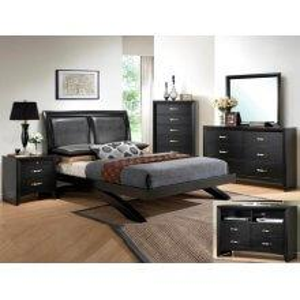 Galinda Qn Bed, Dresser, Mirror, Chest and Nightstand