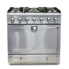 "CornuFe 90 cm Dual-Fuel Range (36"")- Stainless Steel w/ Satin Chrome Trim"