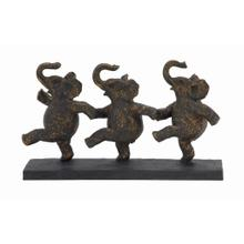 DANCING ELEPHANTS SCULPTURE