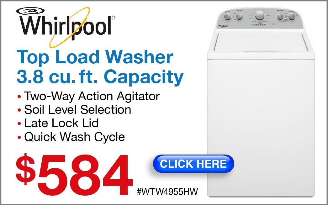 Whirlpool Top Load Washer WTW4955HW