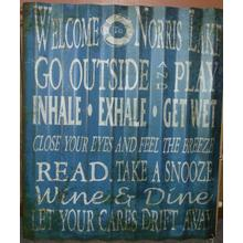 Welcome to Norris Lake Corrugated Sign