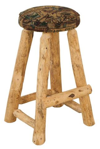 """Best Craft Furniture - RRP390  30"""" Round Barstool with Upholstered Seat"""
