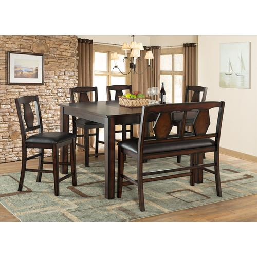 Tuscan Hills 6 Pc Brown Dinette Set by Vilo Home, Model VH2300