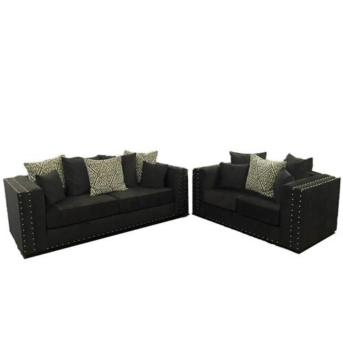 V-dub Furniture - 2 Piece Sofa & Love Seat Gray