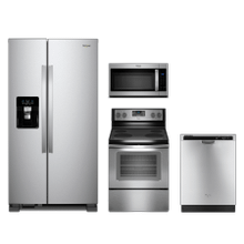 Whirlpool 4-piece Stainless Steel Appliance Package With Electric Range