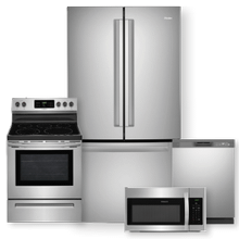 Stainless Steel 27.0 Cu. Ft. French-Door Refrigerator Package- Minor Case Imperfections