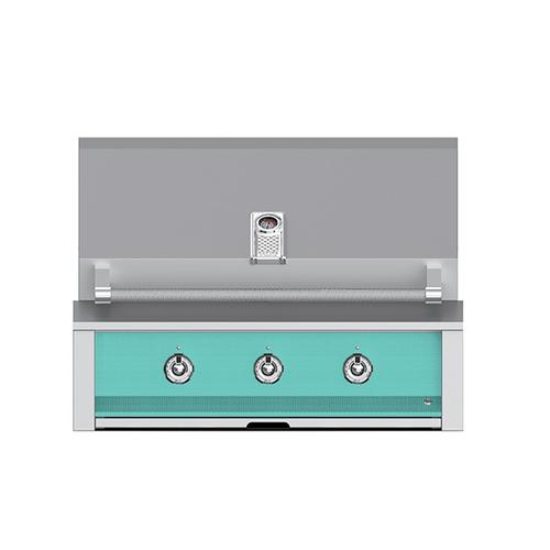 """Aspire By Hestan 36"""" Built-In U-Burner and Sear Grill NG Turquoise"""