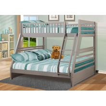 Twin / Full Gray Bunk Bed