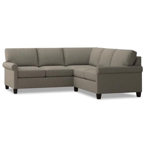 Bassett Furniture - Spencer Small Sectional - Dove Fabric