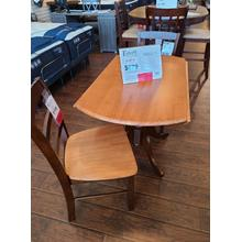 See Details - CLEARANCE Round Dropleaf Table & Chairs