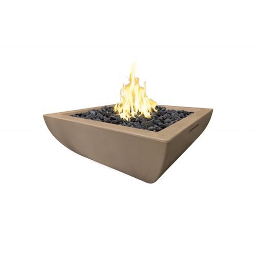 """Bordeaux Petite 30"""" Square Fire Bowl"""