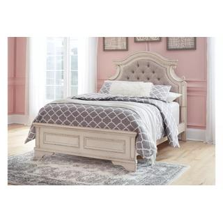 Realyn Chipped White Full Bed Set