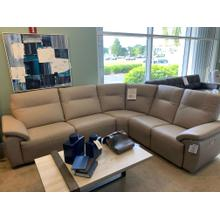 Three Piece Power Reclining Leather Sectional