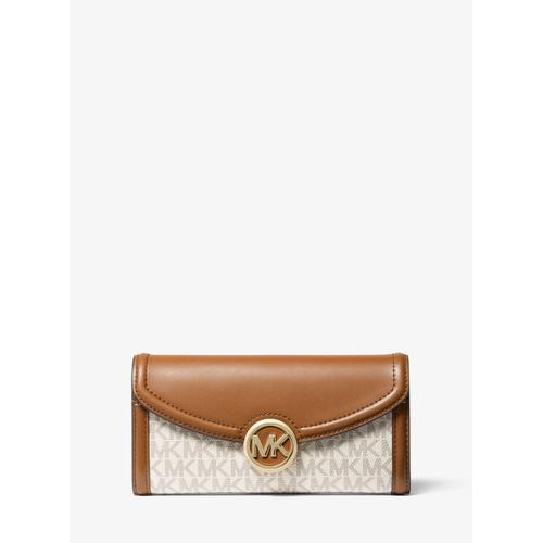 MICHAEL KORS Fulton Large Logo Continental Wallet - Vanilla