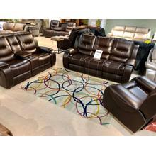 Jamestown Umber Reclining Sofa, Loveseat and FREE Recliner