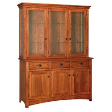 Transitional 3 Door China Hutch