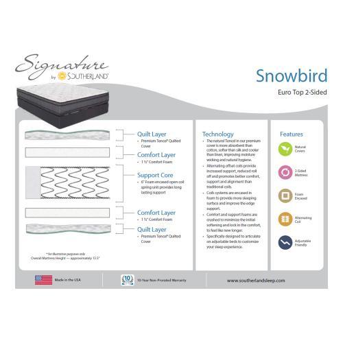 Southerland - Signature Collection - Snowbird - Euro Top