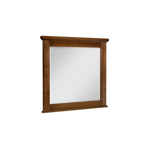 Artisan & Post Solid Wood - Cool Rustic Solid Maple Mirror - Amber Finish
