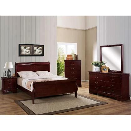 Louis Philip 6 pcs Queen Bedroom Set