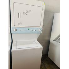 USED- GE Unitized Spacemaker® Washer and Gas Dryer STACK27G-U Serial #1