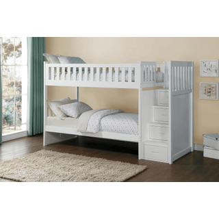 Galen Bunk Bed Twin on Twin with Reversible Step Storage