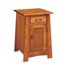 See Details - Craftsmen Chairside Table w/ Door