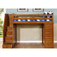 Multi-Purpose Loft - Twin Loft Bed - Rustic Pecan 1