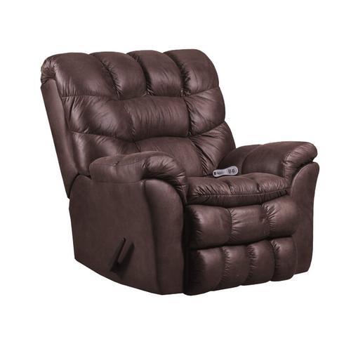Simmons Upholstery - UNITED 678SC Sawyer Chocolate Rocker Recliner