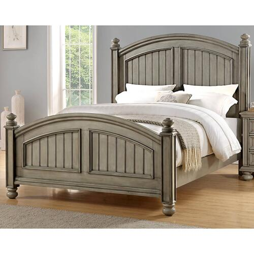 New England Style King Panel Bed