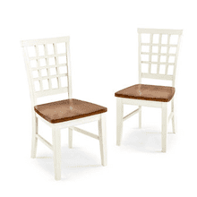 Arlington Lattice Back Chairs / 2 PAK - White and Java