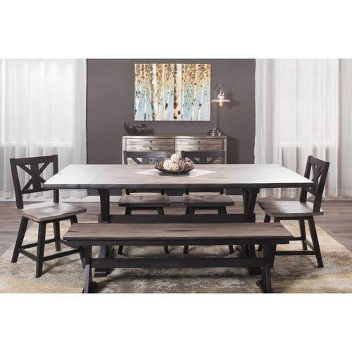 Urban Farmhouse 6 Piece Table Set, Urban Farmhouse Dining Room