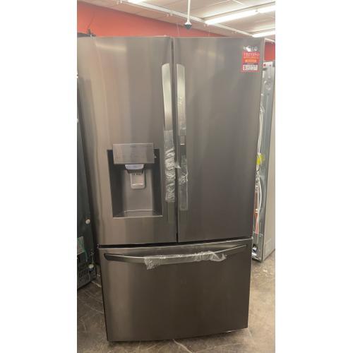 Treviño Appliance - LG Smart French Door Refrigerator in PrintProof Black Stainless Steel