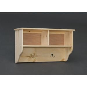 """Unfinished 32"""" Pine Wall Cubby"""