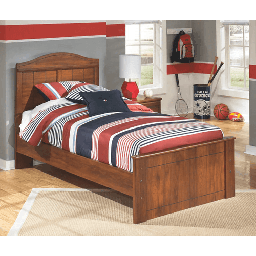 Barchan- Medium Brown- Twin Panel Bed