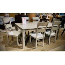 Grey Mango 7 Piece Dining Set in Grey Finish   (Rectangular Table with 6 Side Chairs)   (WARE-MANGODG)