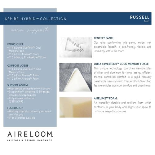 Aireloom - Aspire Hybrid Collection - Russell - Firm